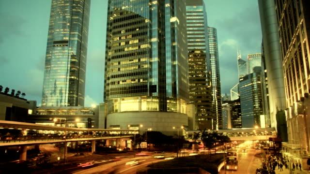 Film Look Timelapse Contemporary City Skyscraper