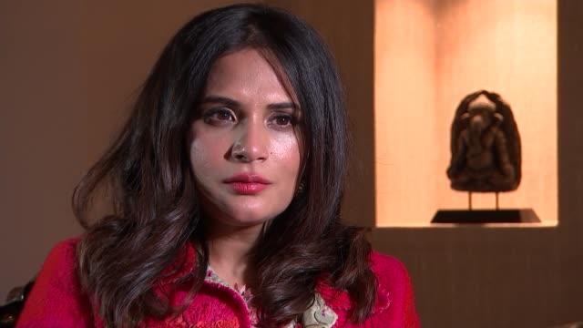 'love sonia' richa chadha interview england london int richa chadha interview sot - ジャッキー ロング点の映像素材/bロール