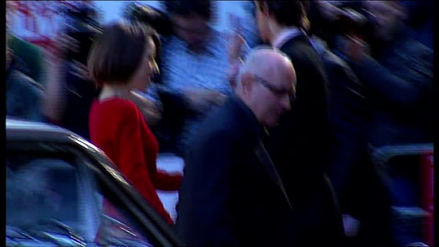 'made in dagenham' film premiere red carpet arrivals england london ext bob hoskins arriving in car and posing for press / back view of hoskins and... - paper industry stock videos & royalty-free footage