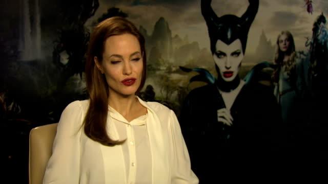 'Maleficent' Junket interviews Angelina Jolie interview SOT