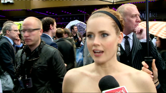 'Man of Steel' premiere Red Carpet interviews Amy Adams chatting to press Amy Adams interview SOT Cavill chatting to press Henry Cavill interview SOT
