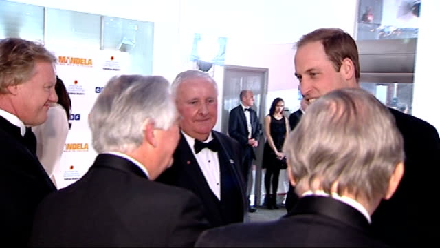 stockvideo's en b-roll-footage met long walk to freedom:: london premiere: duke and duchess of cambridge arrival; england: london: leicester square ext / night prince william and... - première