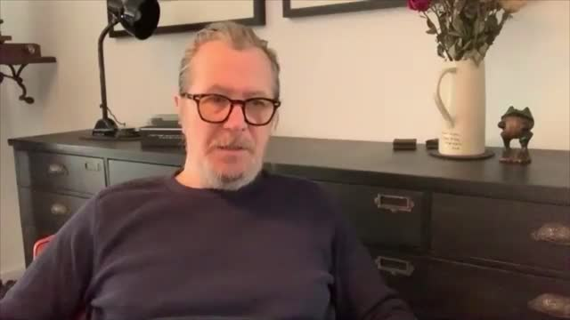 gary oldman interview; england: gary oldman interview sot . - on big cinema chains / oscar nominations / film festivals / promoting the film... - gary oldman stock videos & royalty-free footage