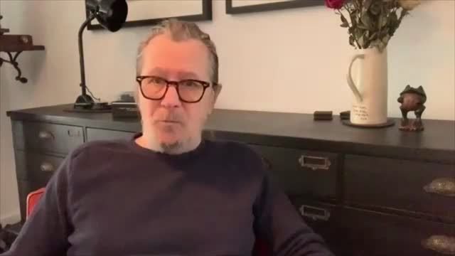 gary oldman interview; england: gary oldman interview sot . - on netflix and the film industry / screenplay by jack fincher / studio system / filming... - gary oldman stock videos & royalty-free footage