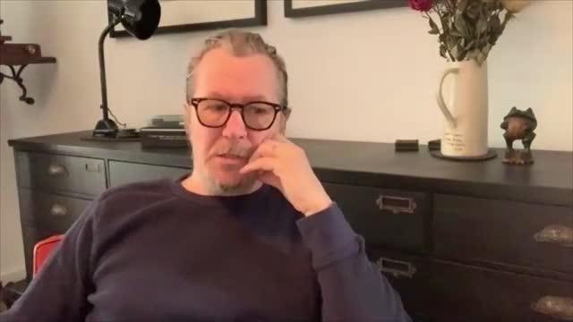 gary oldman interview; england: gary oldman interview sot . - films delayed by covid-19 pandemic / 'tenet' release / wearing masks / working on film... - gary oldman stock videos & royalty-free footage