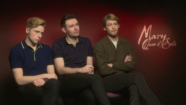 'Mary Queen of Scots' junket interviews Jack Lowden James McArdle Joe Alwyn Adrian Lester and Martin Compston ENGLAND London INT Jack Lowden James...