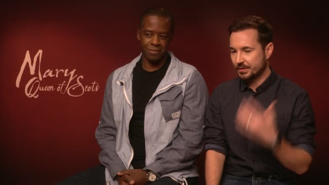 'Mary Queen of Scots' junket interviews Jack Lowden James McArdle Joe Alwyn Adrian Lester and Martin Compston ENGLAND London INT Adrian Lester and...
