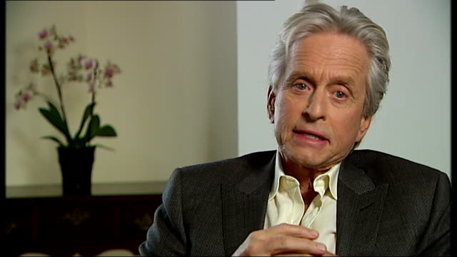 michael douglas interview on new film 'behind the candelabra'; location unknown: int michael douglas interview sot - on the relationship between lee... - new age stock videos & royalty-free footage