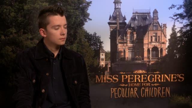 'Miss Peregrine's Home for Peculiar Children' Junket interviews Asa Butterfield interview SOT