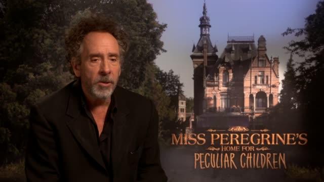 'Miss Peregrine's Home for Peculiar Children' Junket interviews Tim Burton interview SOT