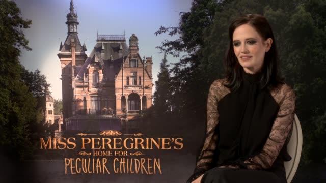 'Miss Peregrine's Home for Peculiar Children' Junket interviews ENGLAND London INT Eva Green interview SOT