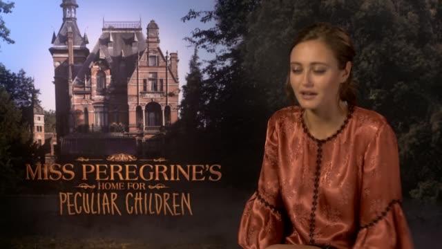 'Miss Peregrine's Home for Peculiar Children' Junket interviews Ella Purnell interview SOT