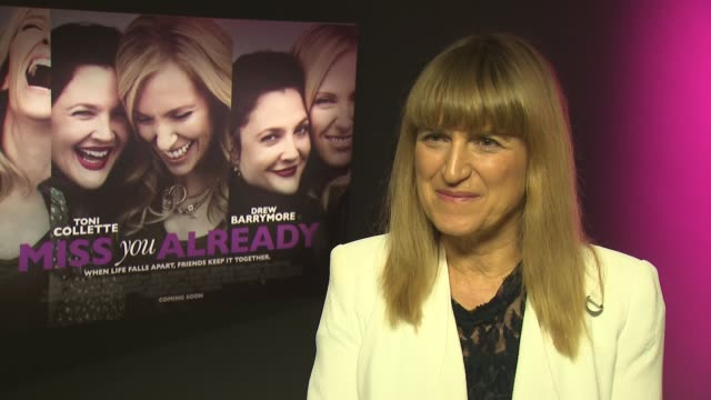 'miss you already' press junket; drew barrymore and toni collette interview sot - on female friendship in film / catherine hardwicke interview sot - toni collette stock videos & royalty-free footage