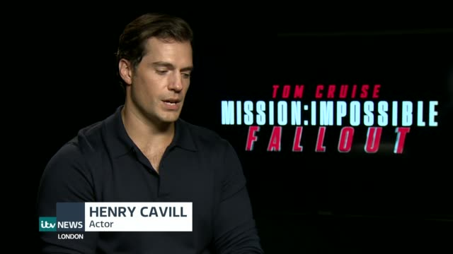 vídeos y material grabado en eventos de stock de mission impossible fallout simon pegg interview england london int henry cavill interview sot - lluvia radioactiva