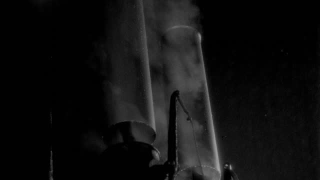film montage of steam blowing from whistle of steamboat and then stops - 1937 stock videos & royalty-free footage