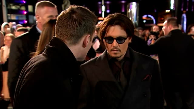 'Mortdecai' premiere ENGLAND London Leicester Square PHOTOGRAPHY** Johnny Depp LIVE interview on red carpet SOT