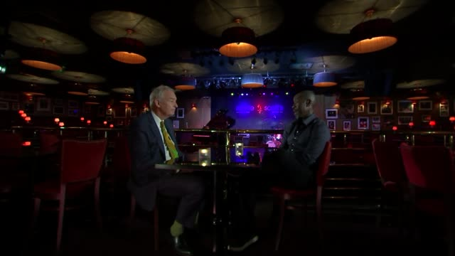 Miles Davis biopic Don Cheadle interview ENGLAND London Ronnie Scott's INT Don Cheadle interview SOT