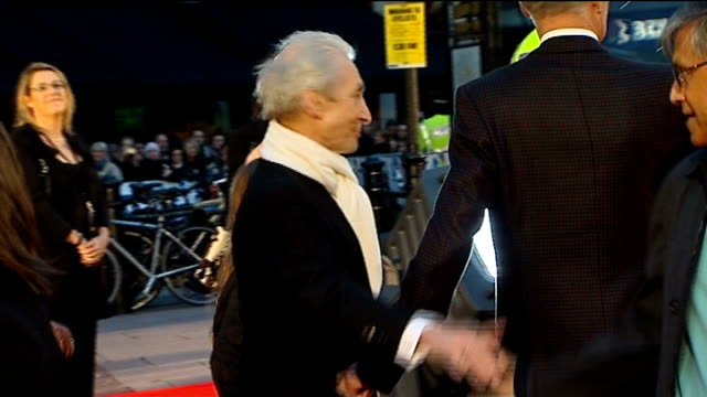 rolling stones at film premiere of 'shine a light' england london ext **sympathy for the devil by the rolling stones overlaid sot** brief shot of... - autogramm stock-videos und b-roll-filmmaterial