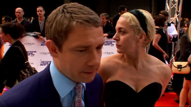 national movie awards 2010 red carpet arrivals martin freeman interview sot on awards/ on dream role playing father christmas is a shane meadows... - martin freeman stock videos and b-roll footage