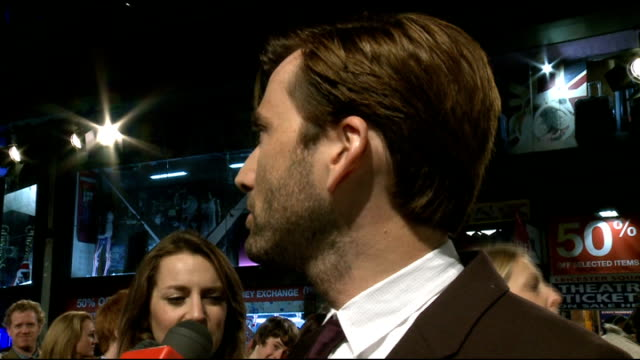 'nativity 2 danger in the manger' premiere red carpet arrivals david tennant speaking to press / interview sot jason watkins interview sot tenant... - tenant stock videos & royalty-free footage