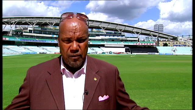 new documentary about west indies cricket team england london the oval ext colin croft interview sot - croft stock videos & royalty-free footage