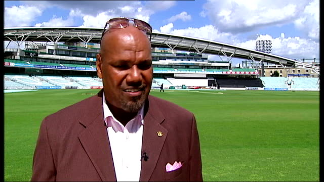 new documentary about west indies cricket team; the oval: ext colin croft interview sot - squadra di cricket video stock e b–roll