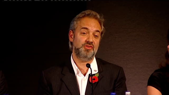 new james bond film announced; england: london: int sam mendes press conference sot - i can't give much away as far as that is concerned, the movie... - sam mendes stock videos & royalty-free footage