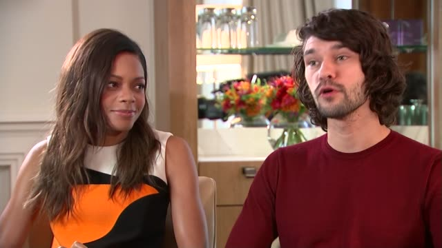 new james bond film 'spectre'; ben wishaw interview with harris beside sot - nice development, love being more involved, leaving my little bunker,... - ben whishaw stock videos & royalty-free footage