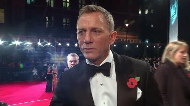 new james bond film 'spectre' film premiere daniel craig interview sot who knows - daniel craig actor stock videos & royalty-free footage