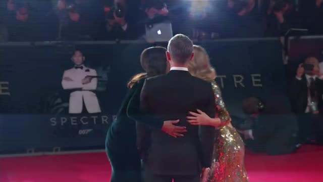 new james bond film 'spectre' film premiere england london photography*** daniel craig on red carpet at premiere of new james bond film 'spectre'... - james bond fictional character stock videos and b-roll footage
