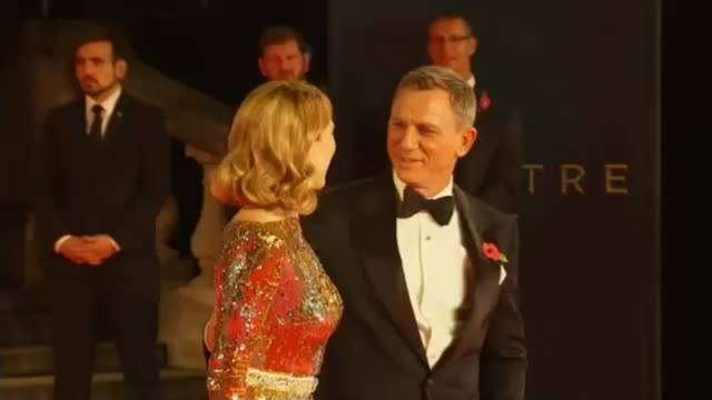 New James Bond film 'Spectre' film premiere ENGLAND London PHOTOGRAPHY*** Daniel Craig and Lea Seydoux at photocall on red carpet for new James Bond...