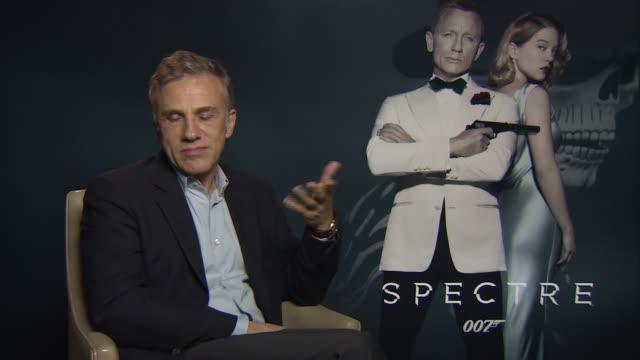 new james bond film 'spectre' interviews christoph waltz interview sot / daniel craig interview sot - james bond fictional character stock videos and b-roll footage