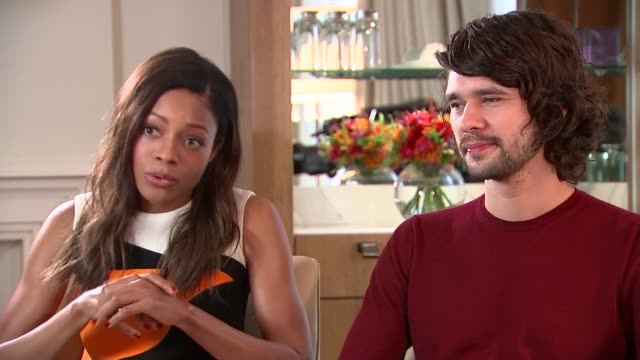 new james bond film 'spectre'; naomie harris interview alongside ben whishaw sot - women are incredibly important in their roles in the bond movies... - ben whishaw stock videos & royalty-free footage