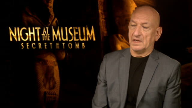 'night at the museum secret of the tomb' junket interviews sir ben kingsley interview sot - ben kingsley stock videos and b-roll footage