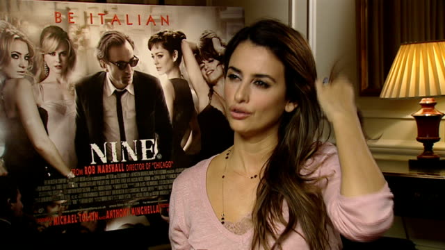 Film 'Nine' Penelope Cruz interview ENGLAND London INT Penelope Cruz interview SOT On her dance routines being sexy and funny / her character /...