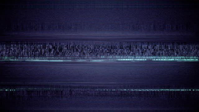 vidéos et rushes de bruit de film sur écran tv analogique vhs - pic flamboyant