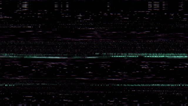 vídeos de stock e filmes b-roll de film noise on analog tv screen vhs - colaptes