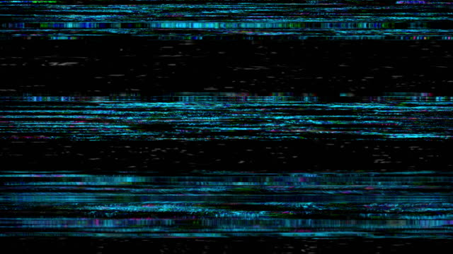 アナログ テレビ画面で vhs フィルム ノイズ - ピクセル化点の映像素材/bロール