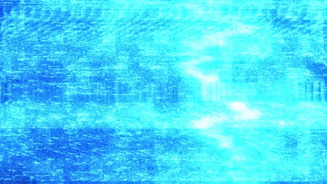 vidéos et rushes de bruit de film sur l'écran de tv d'analogue vhs - lumière stroboscopique