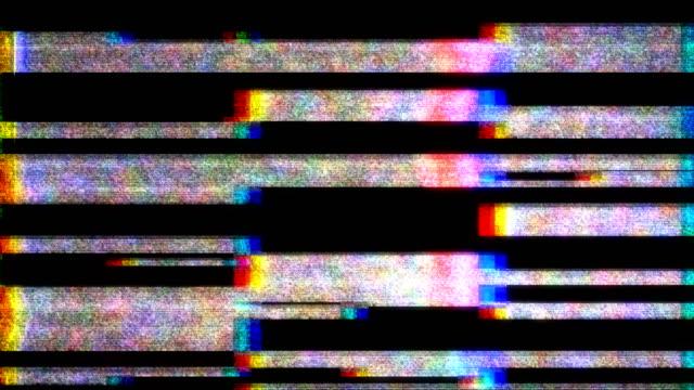 vídeos y material grabado en eventos de stock de ruido de película en la pantalla de tv analógica vhs - pájaro carpintero escapulario