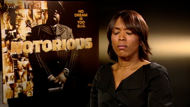 notorious big biopic angela bassett interview sot on the contact she had with voletta her presence on the film set - biggie smalls stock videos and b-roll footage