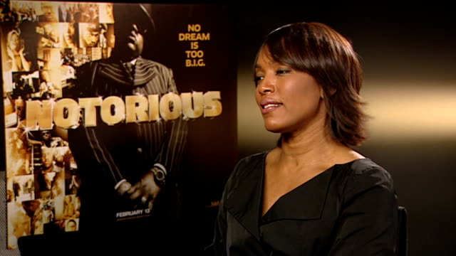 notorious big biopic cast interviews angela bassett interview continues sot on her future projects acting directing and writing - biggie smalls stock videos and b-roll footage