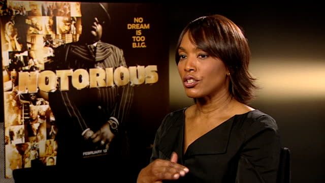 notorious big biopic cast interviews angela bassett interview sot whether she was a fan of biggie / why people are so intrigued by the story /... - biggie smalls stock videos and b-roll footage