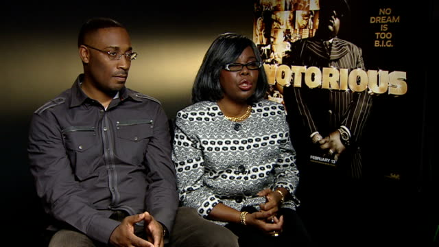 notorious big biopic interview with director and mother england london int george tillman and voletta wallace interview sot discuss feature film... - biggie smalls stock videos and b-roll footage