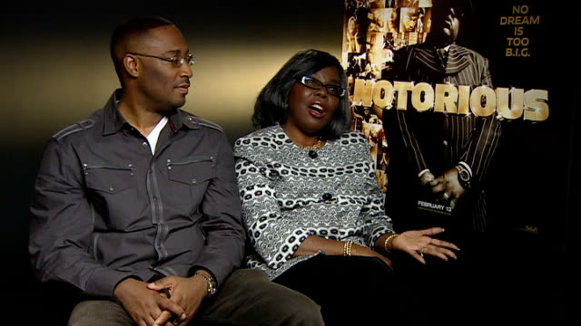 notorious big biopic voletta wallace interview sot on the side she saw of biggie being different to that others saw on finding out about the 'man'... - biggie smalls stock videos and b-roll footage