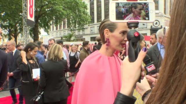 Oceans 8 London premiere Red Carpet ENGLAND London Leicester Square HEARD*** Oceans 8 red carpet Sarah Paulson interview SOT / Cate Blanchett GVs /...