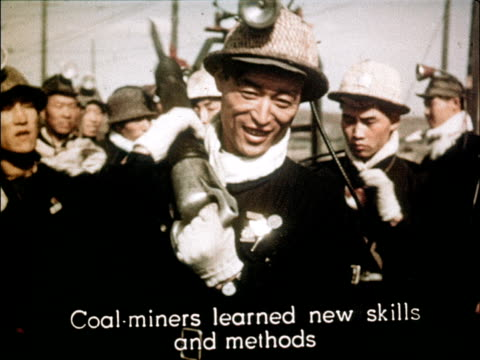 film of 3rd anniversary of the people's republic of china showcasing the advances made in 3 years - coal mine stock videos & royalty-free footage