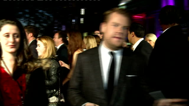 'one chance' red carpet premiere james corden general views / interview sot - chance stock videos and b-roll footage