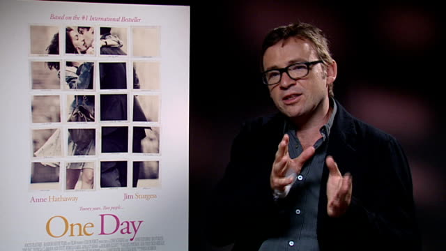 'one day' interviews anne hathaway david nicholls and lone scherfig david nicholls interview sot on film being like the book it's a good adaptation... - 16 17 years stock videos & royalty-free footage