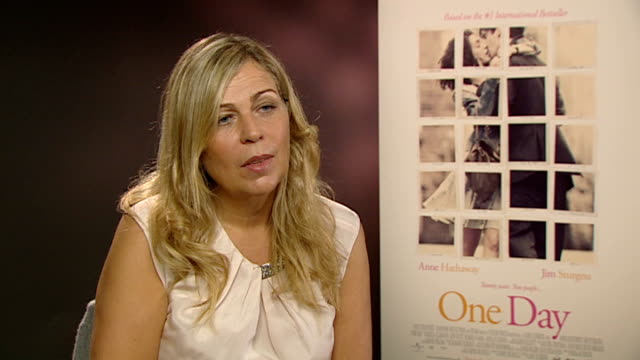 'One Day' interviews Anne Hathaway David Nicholls and Lone Scherfig Lone Scherfig interview SOT On being very busy Happy to be in the UK On period...